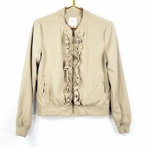 Candie's Embroidered Bomber Jacket